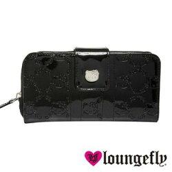 【Loungefly】Hello Kitty聯名款長夾-黑LFSANWA0063《品文創》