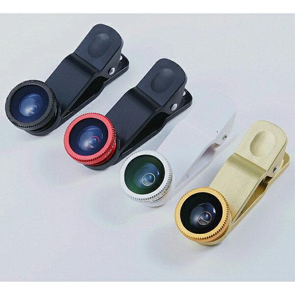 三合一 萬用夾子 魚眼鏡頭 微距鏡頭 廣角 iPhone5 5S HTC SONY 三星