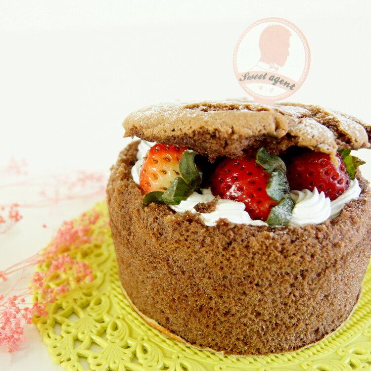 [ 草莓巧克力戚風蛋糕 & 提拉米蘇杯  ] 免運組合【甜點特務】新鮮草莓 + 鬆軟戚風蛋糕 + 鮮奶油 + 卡士達 + Mascarpone起士慕斯 + 咖啡酒糖液 + 手指餅乾 2