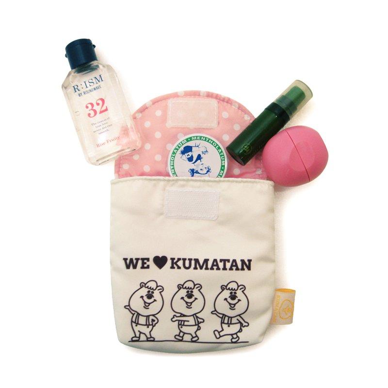 【禾宜精品】正版* WC熊 KUMATAN 基本款 生理包 化妝包 隨身包 K104055-B