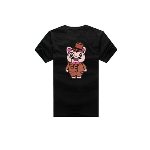 T恤 親子裝 全家福  可客製化 MIT台灣製純棉短T 班服◆快速出貨◆獨家配對情侶裝.粉紅小豬夫妻【YC282】可單買.艾咪E舖 1