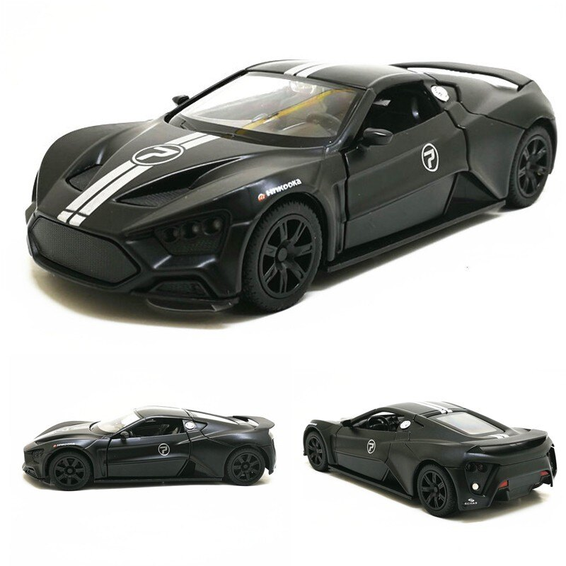 ╭。BoBo媽咪。╮彩珀模型 1:32 丹麥超級跑車 Zenvo ST1 聲光回力車