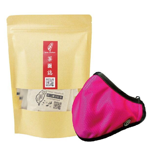 PYX 品業興 P輕薄型口罩- 粉桃紅+茶圖誌茶包組