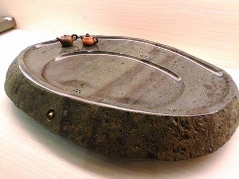 【京采柴燒 手工茶盤】 青石茶盤  尺寸約58*35*6