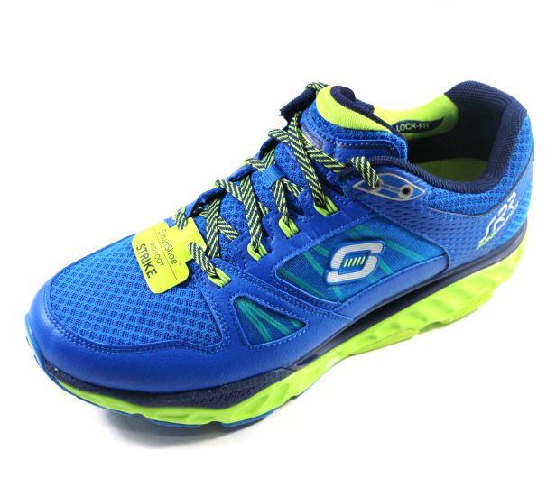 [ 陽光樂活] 贈SKECHERS襪!SKECHERS (男) 回彈力慢跑鞋 2017新款 SRR PRO-RESISTANCE 訓練專用 - 999738BLLM 藍綠