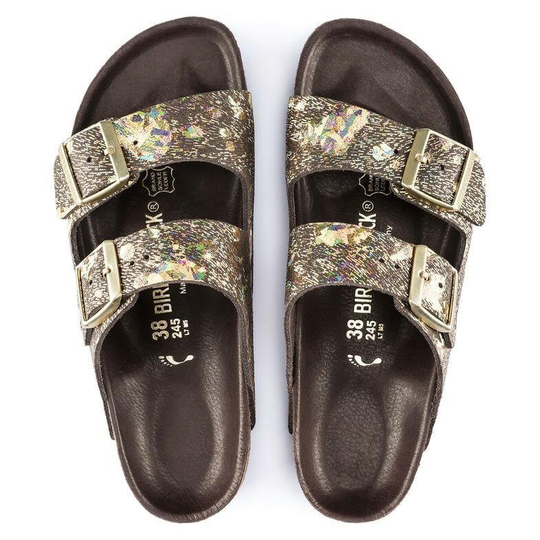 宜蘭勃肯 BIRKENSTOCK ARIZONA 精緻鞋身金屬金