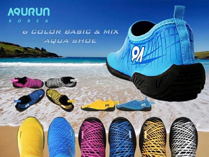 Aqurun Edge Blue藍藍色 – 水陸防滑膠鞋 海灘鞋 水上活動 浮潛 涉水鞋