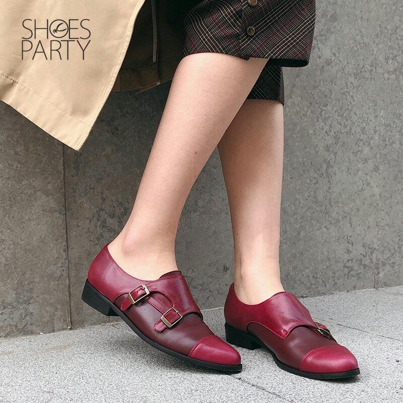 【C2-18127L】英倫風拼接孟克鞋_Shoes Party 1