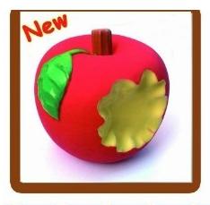 【LOHAS BULL】天然乳膠啾啾玩具-可愛蘋果啃一口