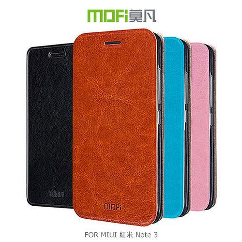 【愛瘋潮】MOFI 莫凡 MIUI 紅米 Note 3 睿系列側翻皮套 保護套 手機殼