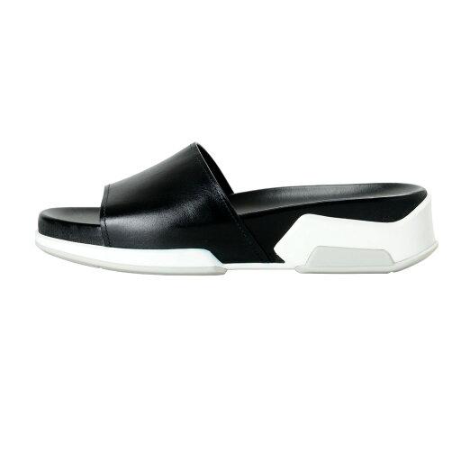 Prada Women's Black Leather Flip Flop Sandals Shoes