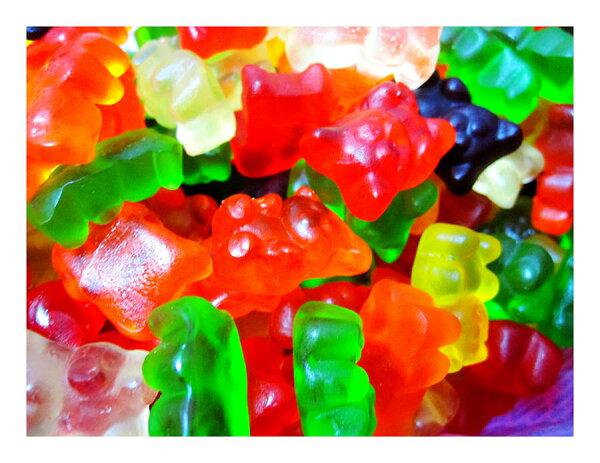 散糖軟糖區‧泰迪熊造型小熊QQ軟糖600g(一斤)【合迷雅好物商城】
