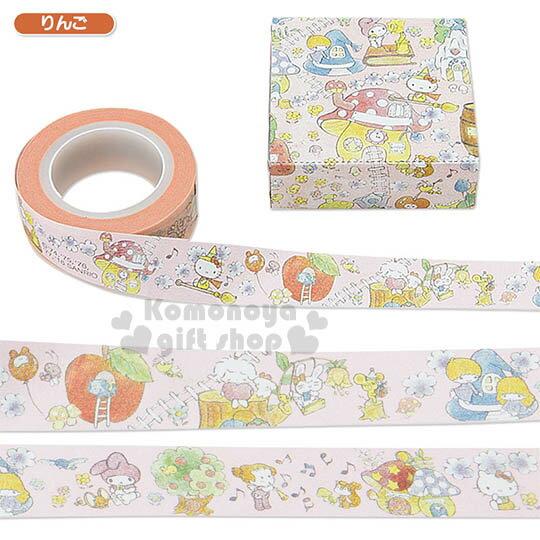 〔小禮堂〕Sanrio大集合 紙膠帶《粉.魔法森林.15mm》Sanrio55週年紀念系列第二彈