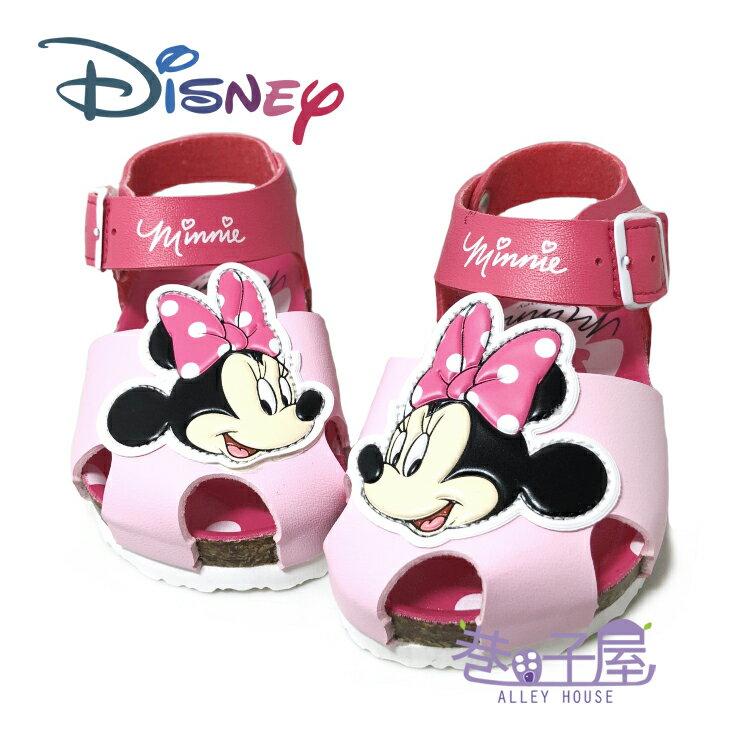 迪士尼DISNEY 童款米妮包趾伯肯涼鞋 [117253] 桃粉 MIT台灣製造【巷子屋】