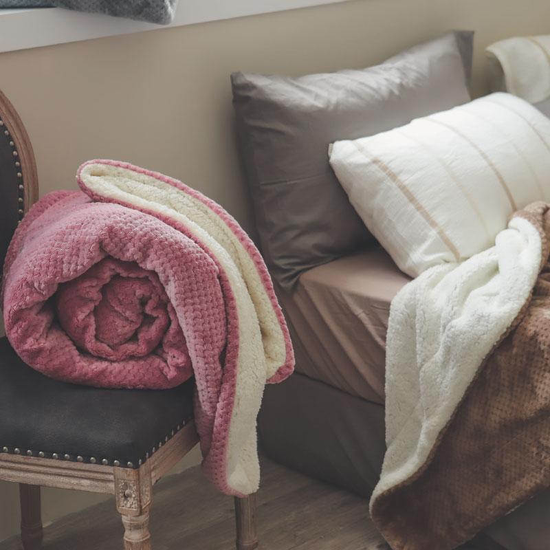 【熱銷破2千條】日本同步法蘭絨x羊羔絨毯-5色 毛毯 / 毯子 / 保暖 / 柔軟 台灣製造 翔仔居家 外島運費另計 1