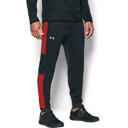 《UA出清5折》Shoestw【1299171-016】UNDER ARMOUR UA服飾 長褲 縮口褲 保暖 內刷毛 黑紅 男生