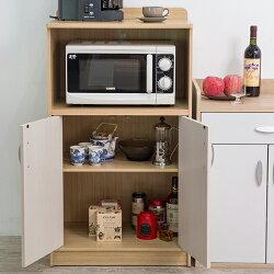櫥櫃收納/櫥櫃/廚房 TZUMii 日式小清新雙門收納廚房櫃