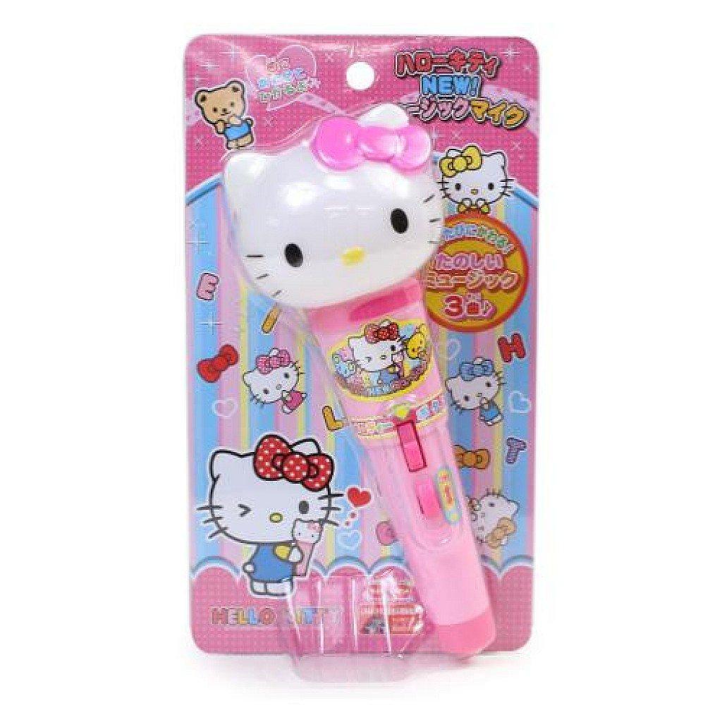 【真愛日本】18041000005 造型頭麥克風音樂玩具-KT粉結 kitty 凱蒂貓 麥克風玩具 音樂玩具