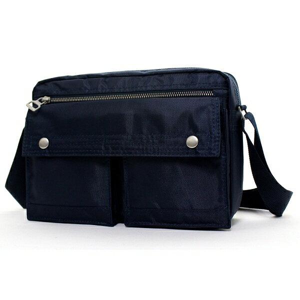 日系雙口袋雙層側背包 (休閒 斜背包 porter風 NEW STAR BL49 3