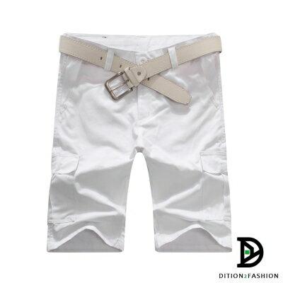 DITION 美式機能口袋outdoor工作短褲 素色 硬挺滑板褲 3