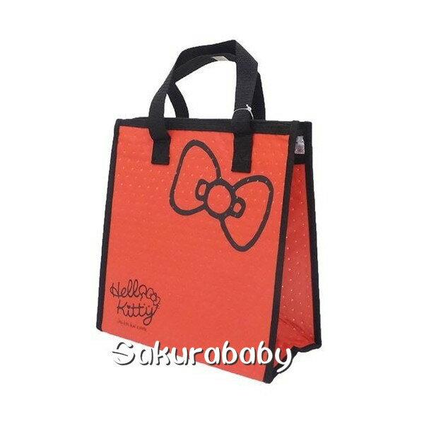 三麗鷗 Hello Kitty 不織布保冷袋 便當袋 保冷袋 大容量 櫻花寶寶 編輯標題