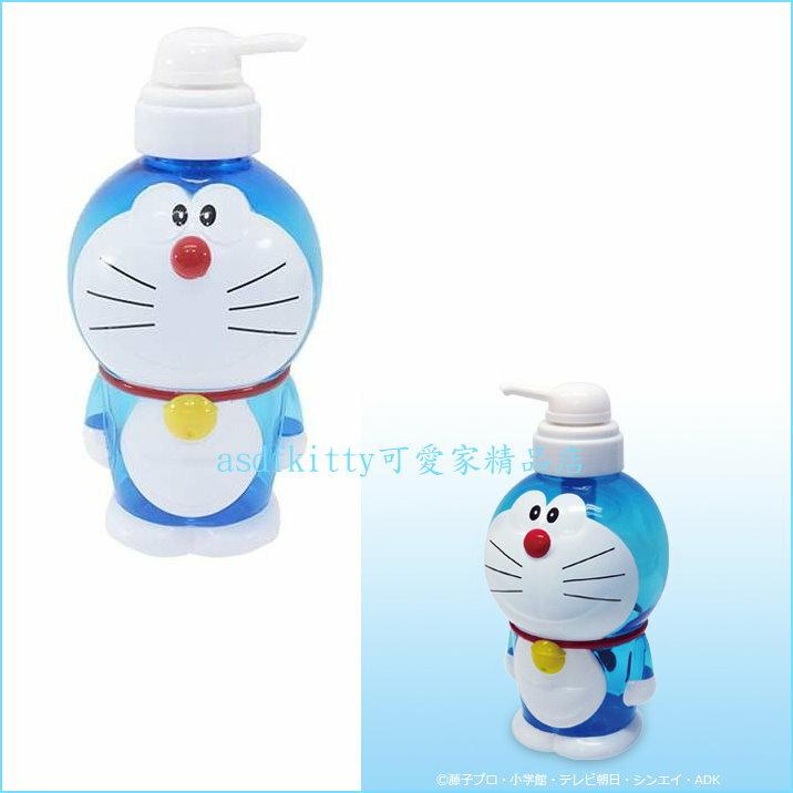 asdfkitty可愛家~哆啦A夢擠壓空罐 空瓶~可裝沐浴乳 洗手乳 洗碗精~720ML~