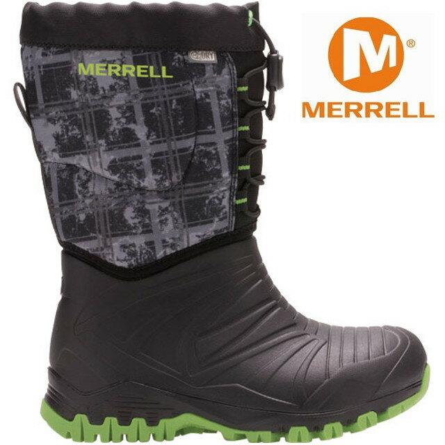 Merrell 兒童雪靴/兒童雪鞋/兒童靴子/防水透氣/滑雪/旅遊 MLC56215 男童黑色