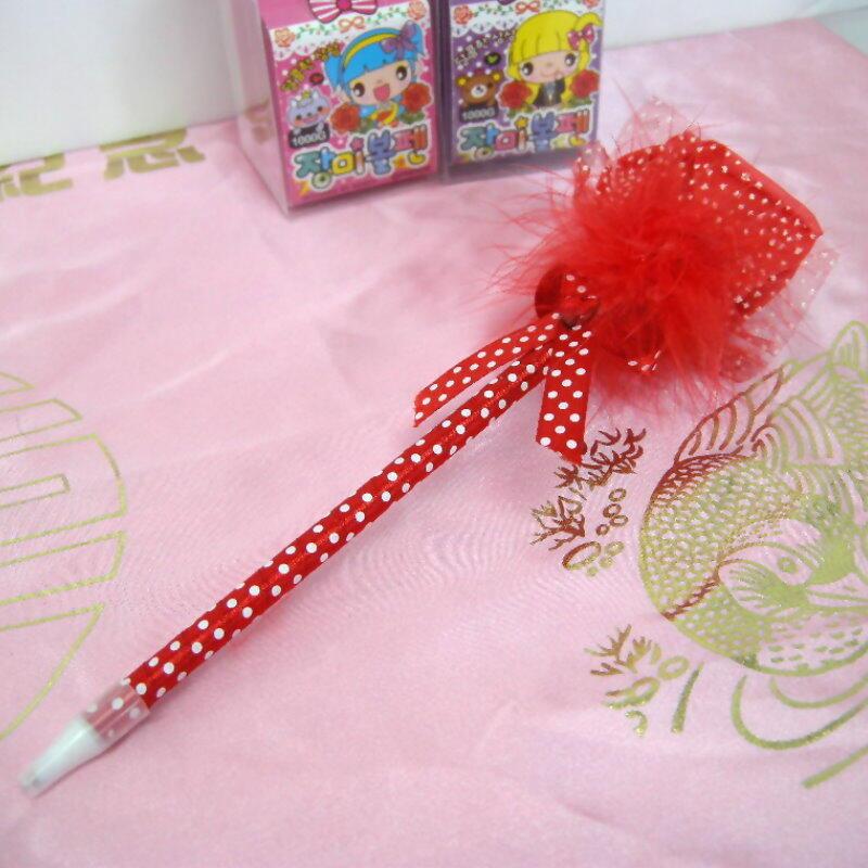 緞帶玫瑰花圓珠筆『精美盒裝』原子筆 婚禮小禮物 簽名筆 情人節玫瑰造型筆【GB310】 123便利屋