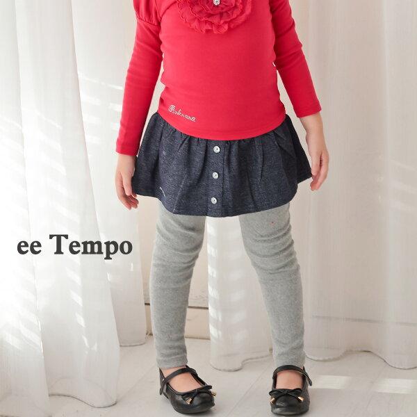 Pink Nana:eetempo童裝女童拼接牛仔布棉質褲裙內搭褲A11166現貨