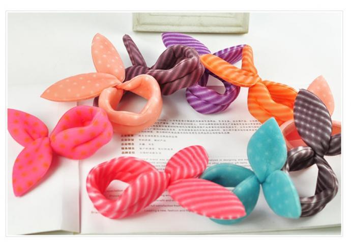 兔子海綿盤髮器(一組4入顏色隨機出貨)