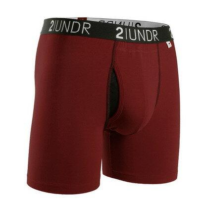 2UNDR【SWING SHIFT】男性內著Burgundy(6吋)