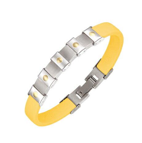 Colantotte直營網路專櫃MAGTITAN TIAMO COLLECTION 磁石/鈦手鍊/黃色/另售替換表帶