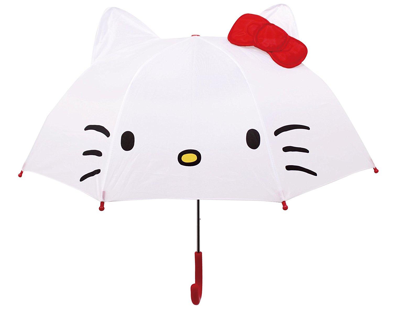 X射線【C040515】Hello Kitty造型直傘(47cm),雨傘/雨具/晴雨兩用/自動收納傘/自動開合傘/高防曬UV傘/