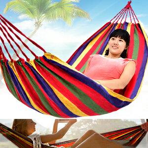 條紋戶外吊床^(附外袋 綁繩^)單人吊床露營吊床帆布吊床.野餐墊地墊沙灘墊海灘墊.休閒吊床