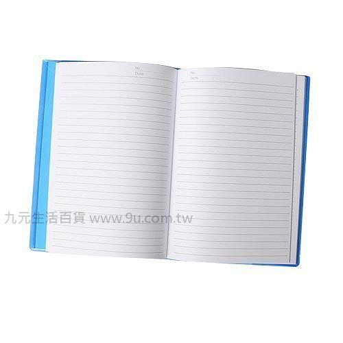 【九元生活百貨】12K藍格膠皮筆記簿 筆記本