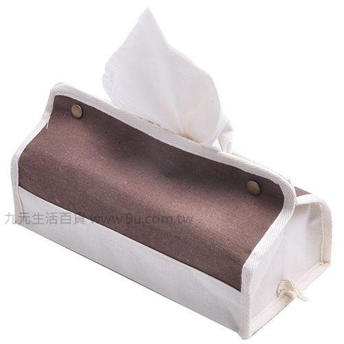 【九元生活百貨】帆布面紙盒套 抽取式面紙盒帆布套 面紙套