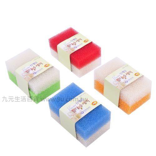 【九元生活百貨】2入過濾棉 海棉 菜瓜布 速乾棉