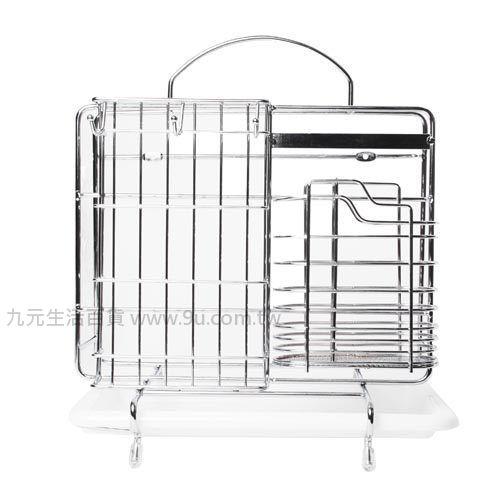 【九元生活百貨】蛋型不鏽鋼多功能餐具架 刀架