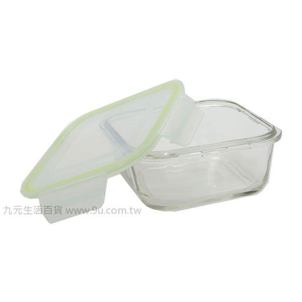 【九元生活百貨】方型密扣式玻璃保鮮盒-700ml 保鮮盒