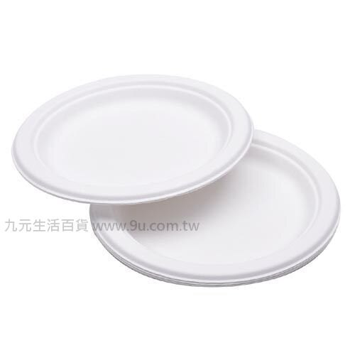 【九元生活百貨】6入植纖圓盤-7吋 免洗盤 環保餐盤