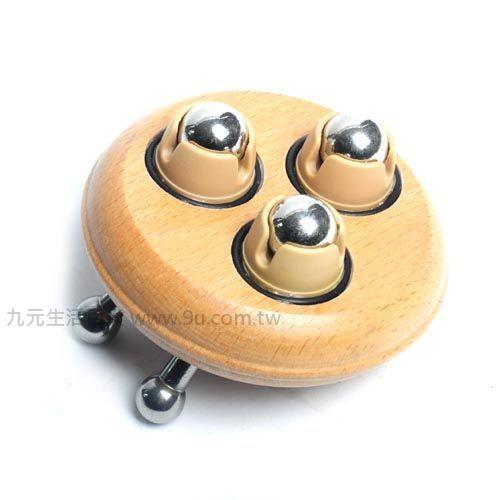 【九元生活百货】蜗牛三龙珠原木滚珠按摩器 刮痧 刮肝经 瘦身 消脂 按摩