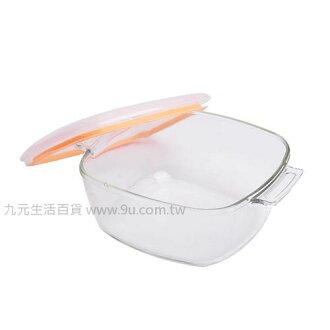 【九元生活百貨】耐熱玻璃萬用鍋-2.2L 保鮮 烤皿 玻璃鍋 耐熱鍋