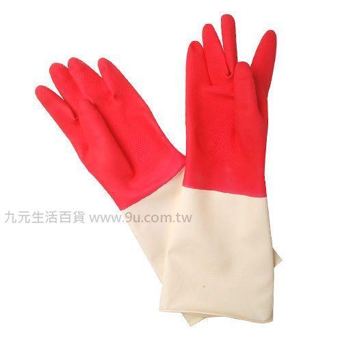 【九元生活百貨】康乃馨特殊處理家庭用雙色手套-8吋 手套