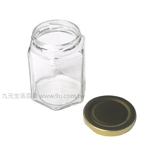 【九元生活百貨】RP30 六角瓶-大 玻璃罐 果醬瓶