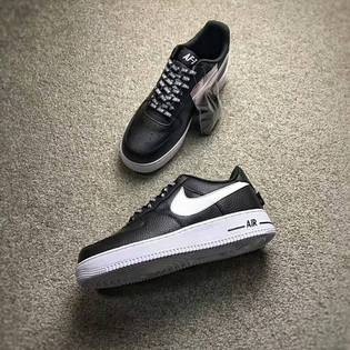 NikeAirForce1LV8NBA黑色情侶款