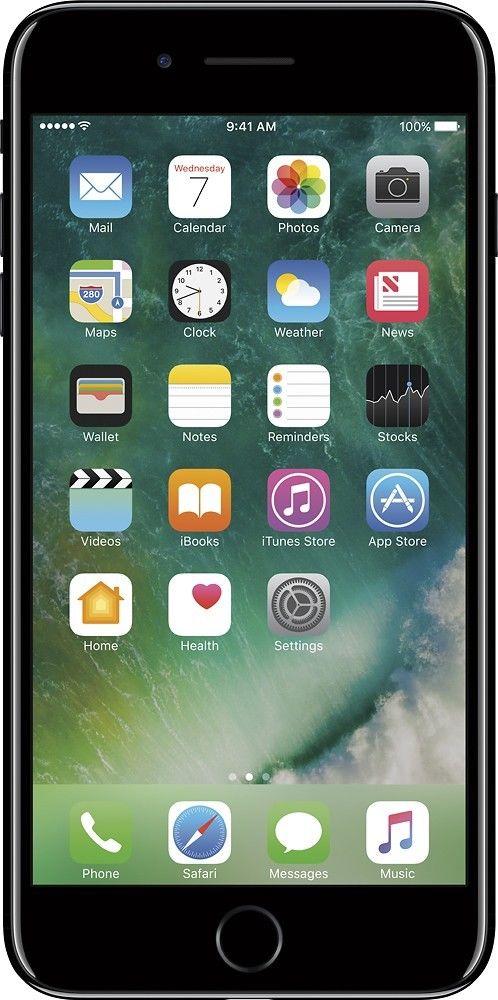 823d96aeb80 BuySPRY: Apple iPhone 7 Plus 128GB - Jet Black - GSM Unlocked (AT&T ...