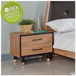 床頭櫃【YUDA】洛特 木心板 二抽 床邊櫃/邊櫃/抽屜櫃/邊几 J9S 416-3