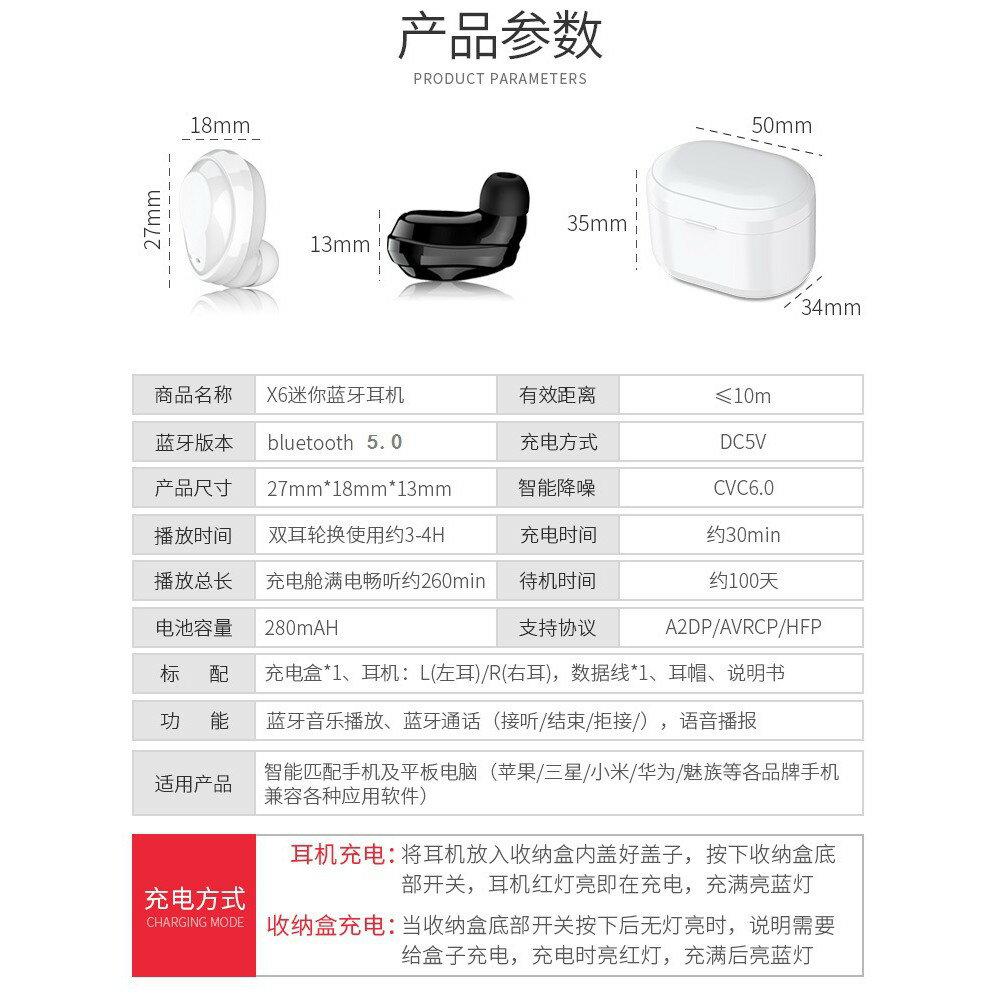 **現貨不必等** 無線迷你5.0藍牙耳機 入耳塞式 IPX5防水防塵 充電收納盒 超輕 隱形 跑步 運動 亞馬遜熱銷 7