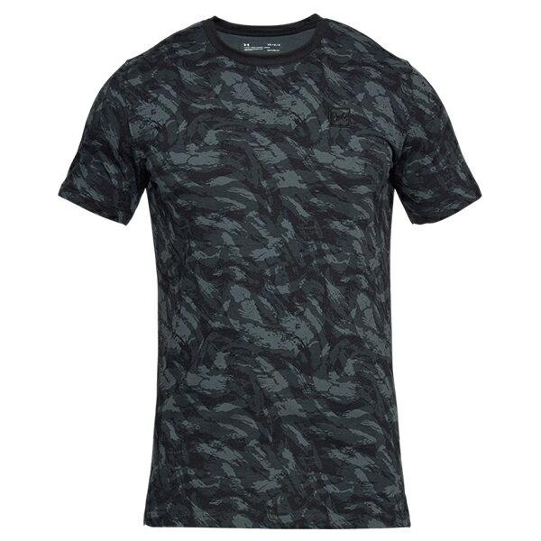 《UA出清69折》Shoestw【1305671-001】UNDER ARMOUR UA服飾 Sportstyle 短袖 T恤 能量棉 水彩刷紋 黑灰 男生 2