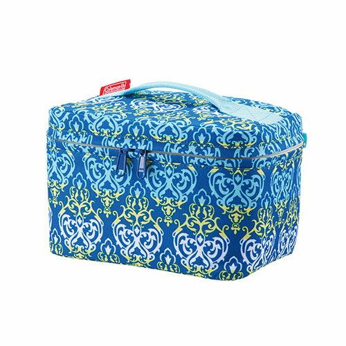 露營趣:【露營趣】中和美國Coleman4L藍葉圖騰保冷袋保溫袋母乳袋便當袋軟式冰桶軟式冰箱CM-22228